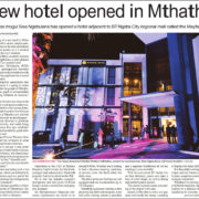"""New hotel opened in Mthatha"" - Article"