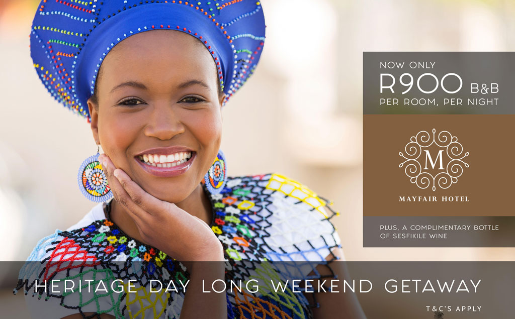 Heritage Day Long Weekend Special