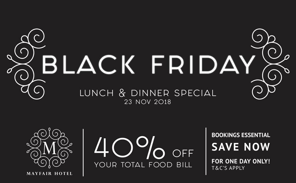 Black Friday Restaurant Special | Mayfair Hotel