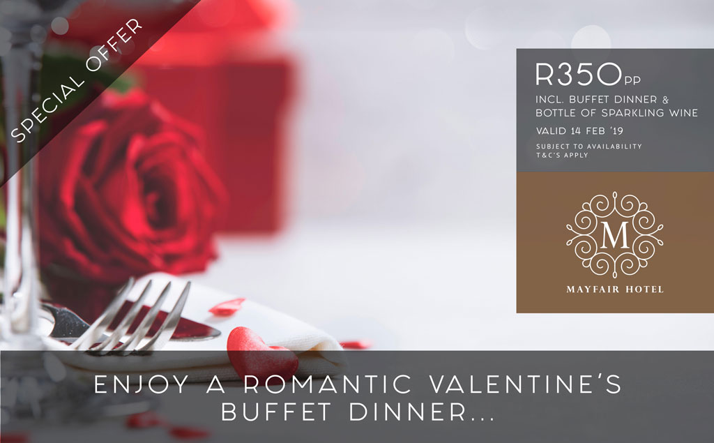 Valentines's Buffet Dinner | Mayfair Hotel