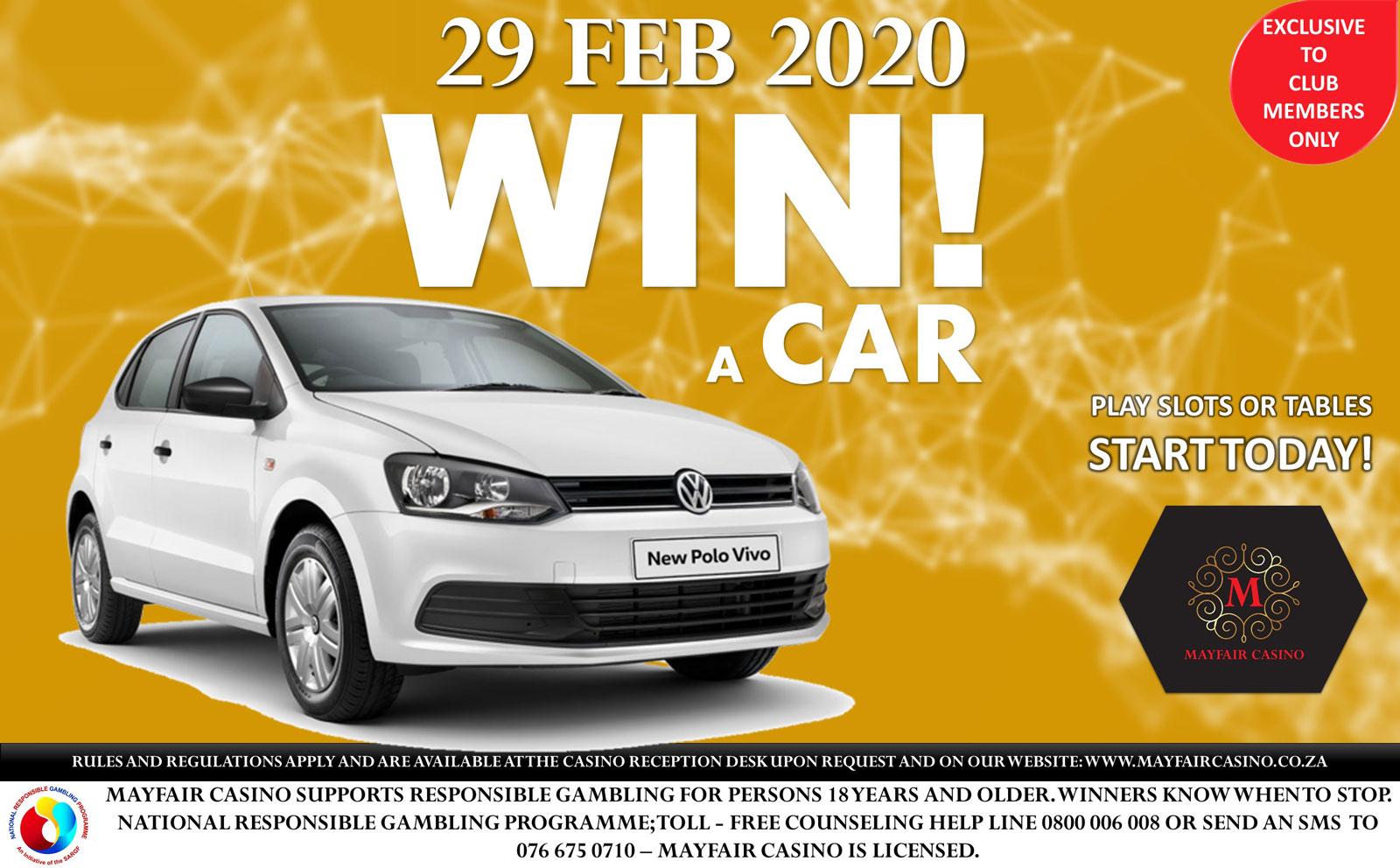 Win a Car | Mayfair Hotel